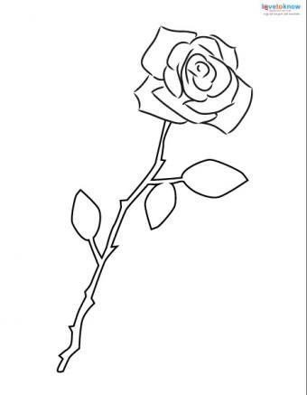 Flower tattoo stencil
