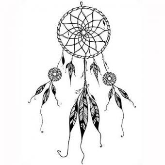 Tattoo of dreamcatcher