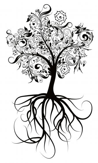 tree tattoo pattern