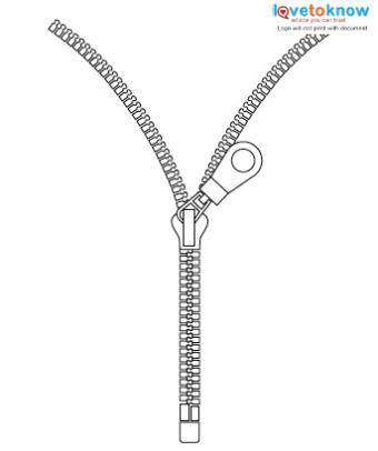 Zipper tattoo design