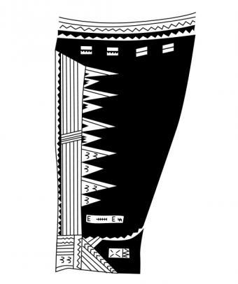 Samoan Tattoo back of thigh knee