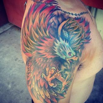 Eagle Tattoo on Shoulder