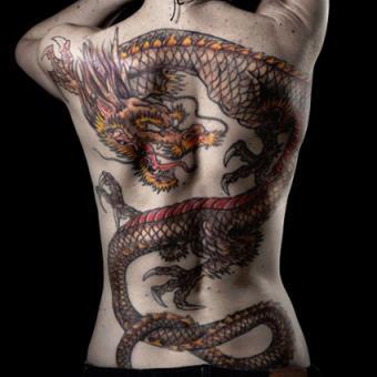 Dragon Back Tattoo Close-up