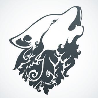 Howling Wolf Tattoo Design