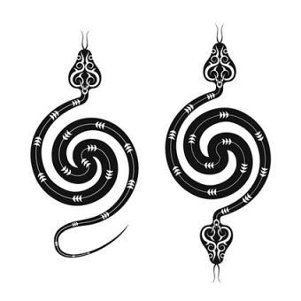 Spiral snake tattoos
