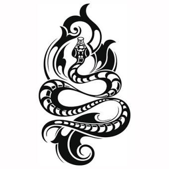 Tribal snake tattoo