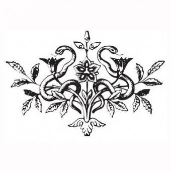 Dual snake tattoo design