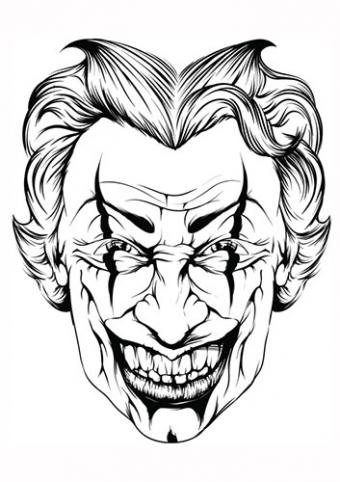 Smiling joker face