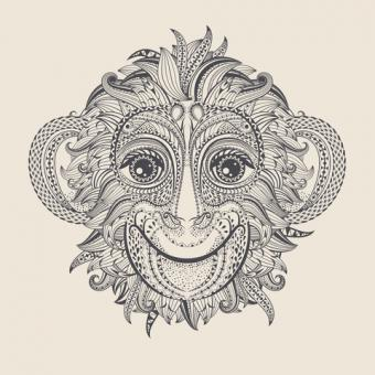 Chinese Monkey Tatoo Design