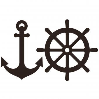 Anchor and Rudder sign