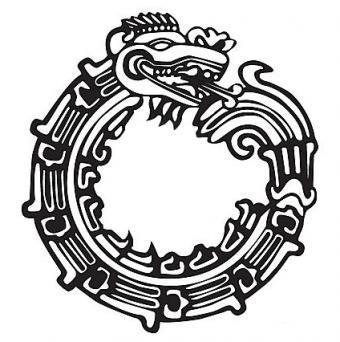 Aztec Maya Dragon