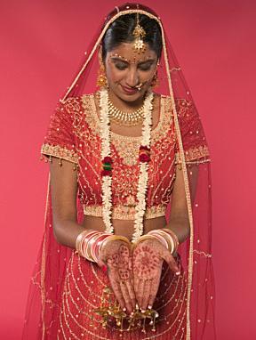Bride with henna tattoo