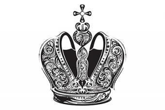 Illustrated crown tattoo