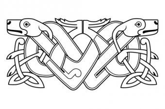 Celtic Knot Dog Tattoo Design