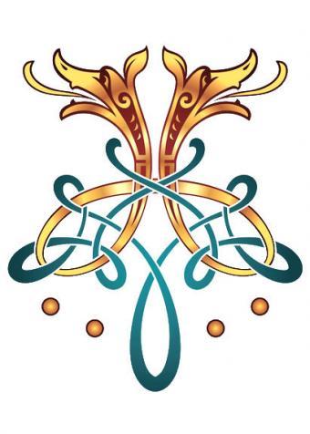 Color Celtic Dog Tattoo Design