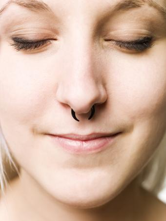 girl with septum piercing