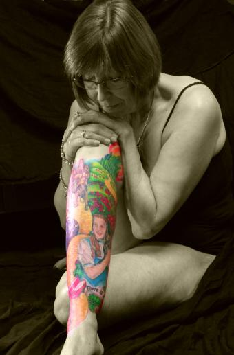 wizard of oz leg scene tattoo