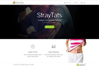 Screenshot of StrayTats.com