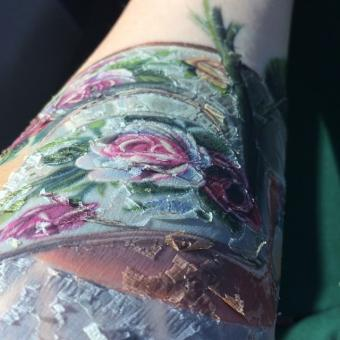 Tattoo in healing process