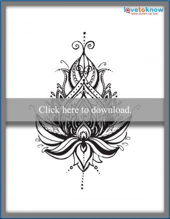 Henna lotus flower design