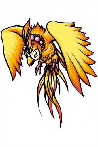 Illustrated phoenix