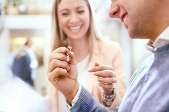 Couple ring shopping