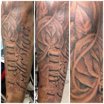 Brother's Keeper tattoo with rose design