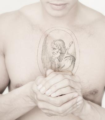 St. Jude engraving tattoo