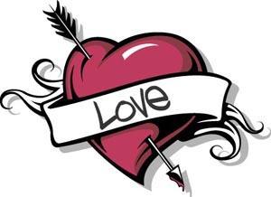 Temporary tattoo image of heart