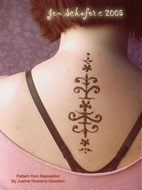 Henna tattoo on neck