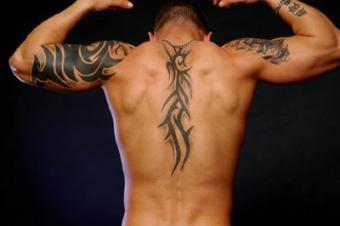 Tribal back piece