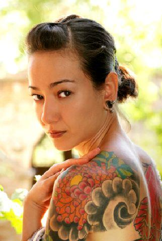 Japanese wave tattoo