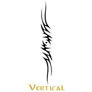 Vertical Tattoo Style