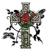 Garden Cross with Knotwork
