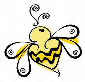 Stylish bumble bee
