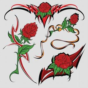 More tribal rose flash art