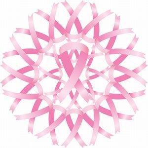 Pink ribbon mandala