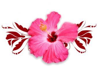 Hibiscus Tribal Design