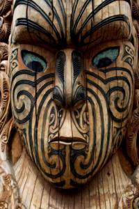 Tattooed statue
