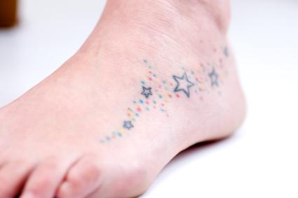 Star tattoo on foot the life
