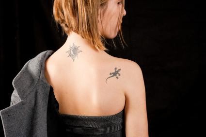 moon, sun, star tattoo