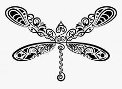 Scrollwork Dragonfly