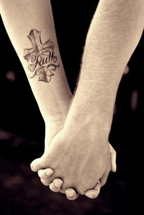 Christian cross tattoo
