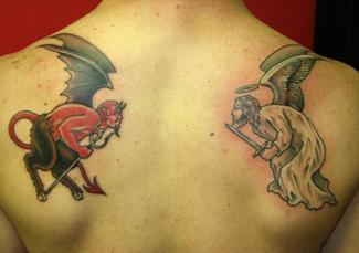 Devil and Angel Tattoo