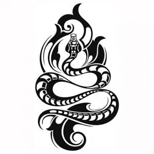 Tribal snake tattoo