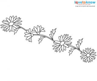 Daisy flower wrist tattoo design