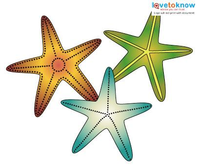 Starfish Tattoos color 2