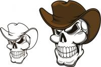 Cowboy Hat and Skull