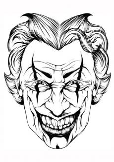 Smiling joker face