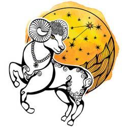 leaping ram tattoo design